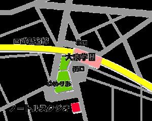 大泉学園駅のレンタルスタジオ「ノートル」の地図・マップ・所在地・アクセス