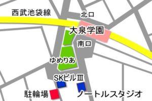 大泉学園 レンタルスタジオ アクセス 地図