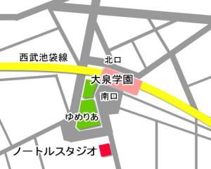 大泉学園 ダンススタジオ は 大泉学園駅 からも バス停 からも近い ダンススタジオ です。