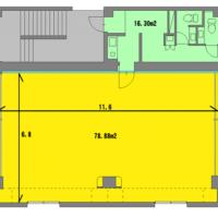 広い 大泉 レンタルスタジオ は 78.88㎡あります、詳しい 図面 はこちら。